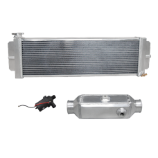 Aluminum Barrel Style Liquid to Air Intercooler Heat Exchanger Water Pump