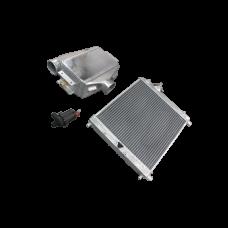 Aluminum Heat Exchanger Liquid Water to Air Intercooler and Water Pump