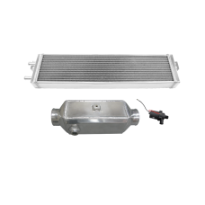 Aluminum Liquid Water to Air Intercooler Heat Exchanger Pump Kit