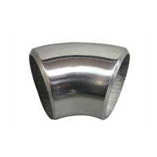 """1.65"""" O.D. Extruded 304 Stainless Steel Elbow 45 Degree Pipe , 3mm (11 Gauge) Thick"""
