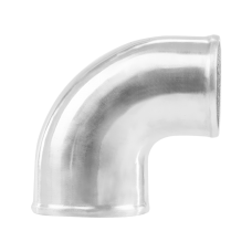"Polished Cast Aluminum 90 Degree 3.5""-3"" O.D. Reducer Elbow Pipe"