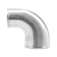 "Polished Cast Aluminum 90 Degree 4""-3"" O.D. Reducer Elbow Pipe"