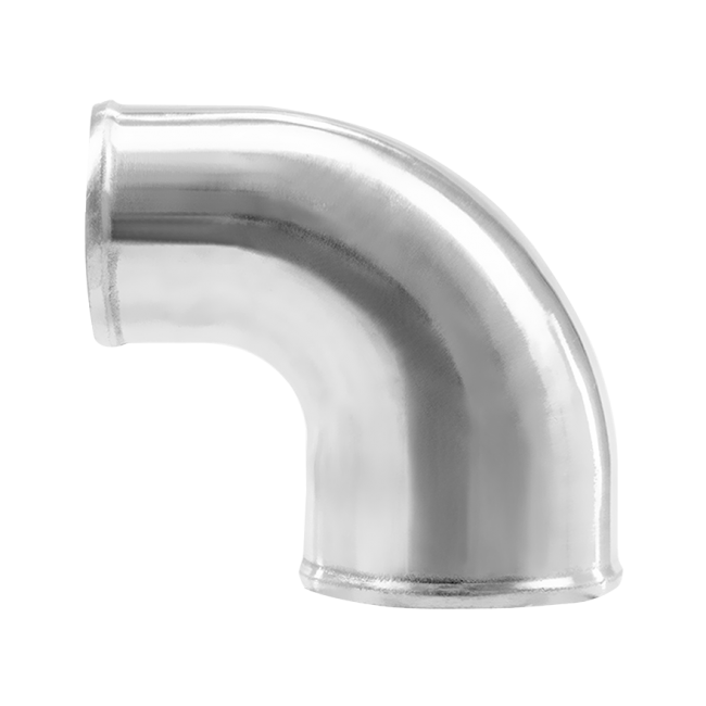 Polished Cast Aluminum 90 Degree 4 Quot 3 Quot O D Reducer Elbow Pipe