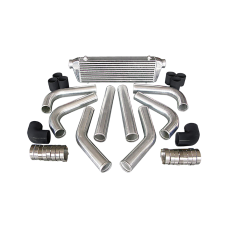 """28x7x2.5 inch Universal Intercooler +  2.5"""" Piping Kit for ECLIPSE LANCER MIRAGE"""