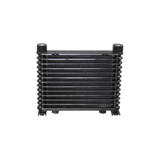 "Aluminum Oil Cooler 13 Rows, NPT 1/2"" Fitting Hi Performance"