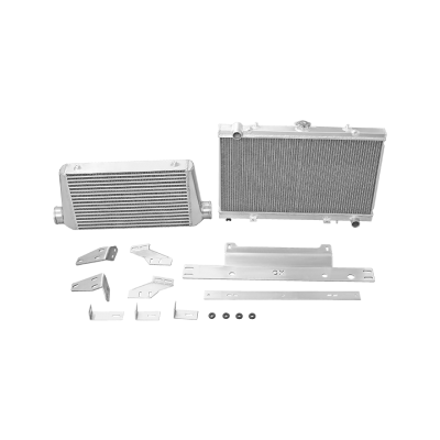 Intercooler Radiator Mounting Bracket Kit For 86-91 RX7 RX-7 FC LS1 2JZ LS RB