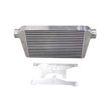 """Intercooler + Mounting Bracket for 75-78 Nissan 280Z Fairlady Z 2.5"""" Inlet Outlet"""