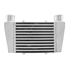 """Universal Front V-Mount Intercoole 15.25""""x9.5""""x3"""" 2.5"""" Inlet Outlet"""