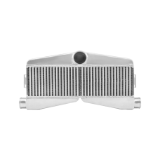 Front Mount Twin Turbo Bar&Plate 2-Inlet 1-Outlet Intercooler 27x13x3.5