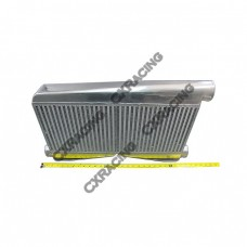 "Universal 25.5x16x3.5 Twin Turbo Intercooler 2.5"" Inlet & 3"" outlet"