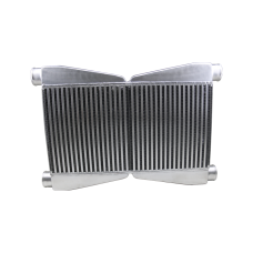 """Dual Core Twin Turbo Intercooler 3.5"""" Thickness 2.5"""" Inlet & Outlet"""