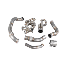 Turbo Manifold Header Downpipe Kit For 04-13 BMW E90 E92 LS1 Engine Swap