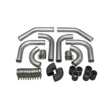 """2.25"""" UNIVERSAL TURBO INTERCOOLER PIPING KIT WITH PIPE 120 DEGREE"""