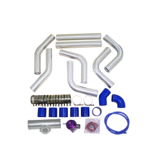 "2.25"" Universal Alum Intercooler Pipe Piping Kit + BOV Turbo Blow Off Valve Kit"