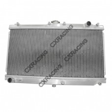 """Aluminum Radiator For 99-05 Mazda Miata ManualL;Core Size: 25""""x12""""x2"""", Inlet & Outlet:1.27"""""""