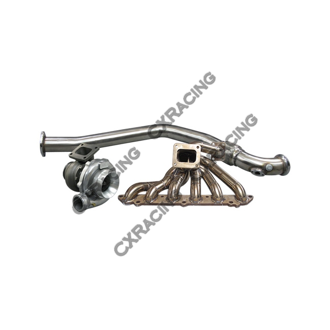 turbo thick manifold 3 u0026quot  downpipe wastegate kit for 86