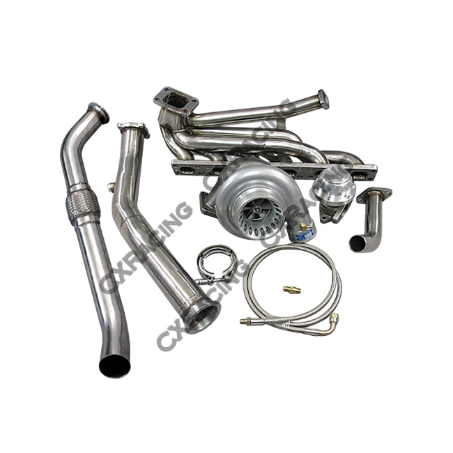 top mount t3 gt35 turbo kit manifold downpipe for 92