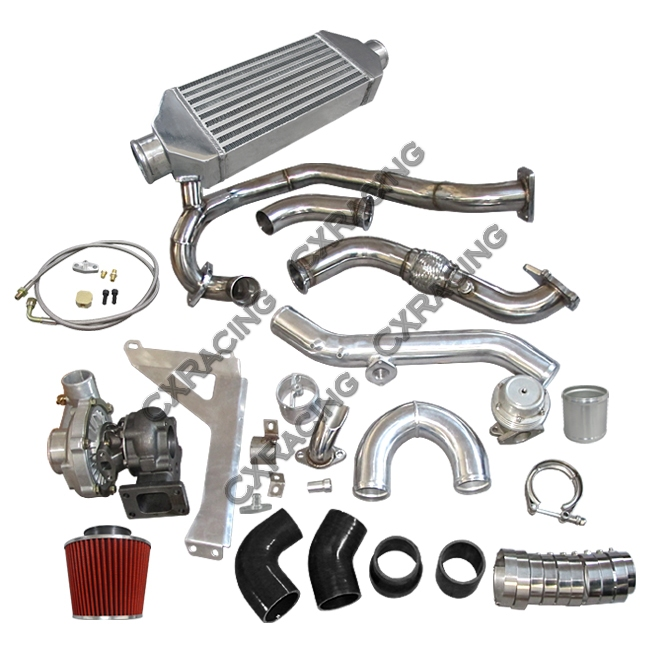 Turbo Intercooler Piping Wastegate BOV Kit For 76-86 Jeep