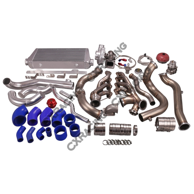Turbo Header Manifold Downpipe Intercooler Kit For 82-92