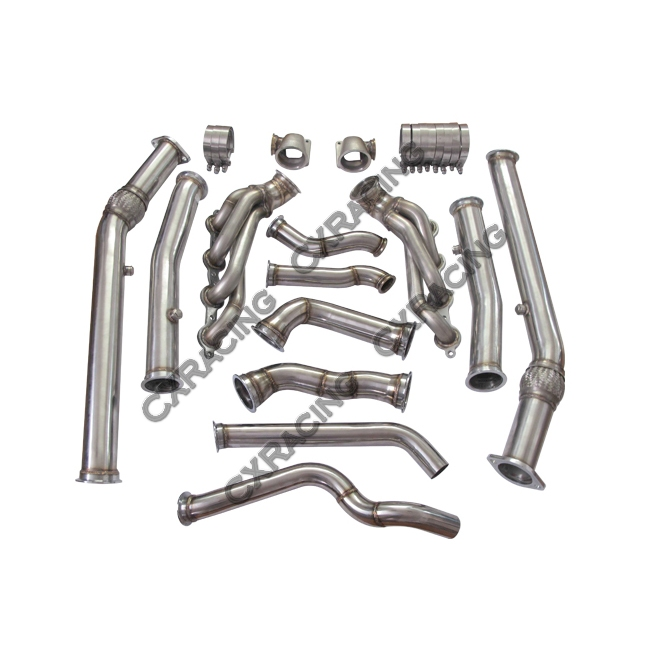 twin turbo manifold downpipe for 04