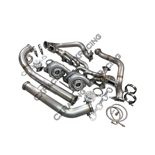 Twin Turbo Kit For 79-93 Ford FoxBody Mustang 5 0L Dual T04E 700 HP