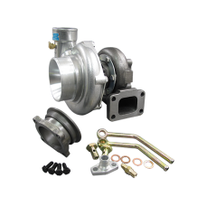 Universal GT35 Turbo Charger T3 + Water Oil Fitting 500+ HP For Civic Prelude Mustang