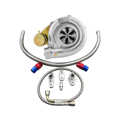 Dual Ball Bearing T61 Billet Turbo w/ Oil Fitting For 86-92 Supra MK3 7MGTE Engine